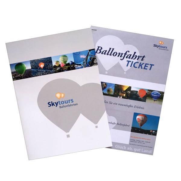 Geschenkmappe inklusive Bordmagazin