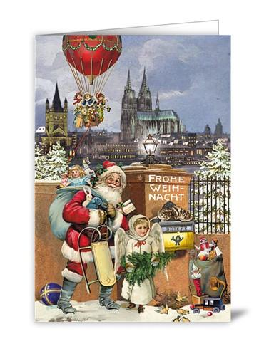 Frohe Weihnacht Kölnpanorama